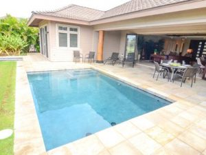 Keeping pool tiles looking like new. Image of pool tiles at a home.